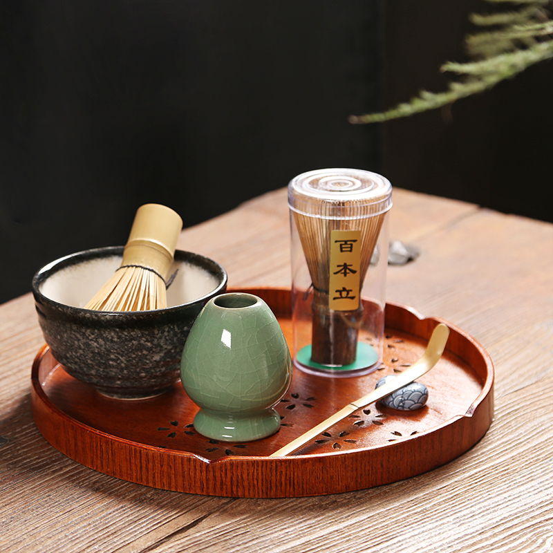 2019 Japanese Ceremony Matcha Suit Bamboo Whisk Matcha Green Tea Powder Chasen Tool Grinder Brushes Tea Tools Holder Accessories