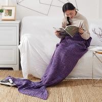 Infant Knit Fishtail Blanket Baby Girls Cute Wrappling Blanket Children Bedding Kids Blanket for Taking Photo Baby Girls Blanket