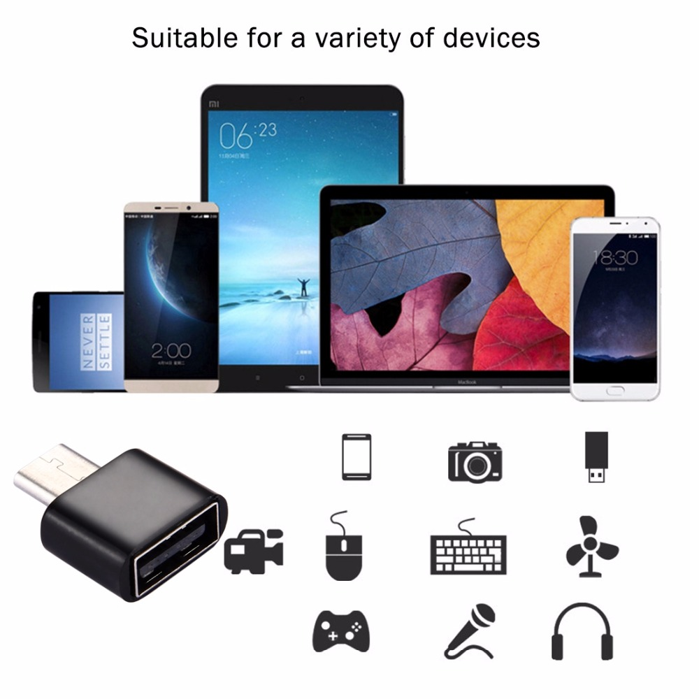 Plastic USB Type-C Male To USB 2.0 Female OTG Data Transmission Charging Adapter, For Galaxy S8 / LG G6/ Huawei P10/ Xiaomi Mi 6