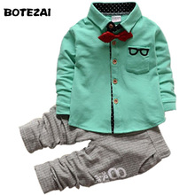 2017 New Fashion Kids Clothes Spring Autumn Baby Boys Sets Kids Long Sleeve Sports Suits Children Hoodies+Pants 2Ps Boys Clothes