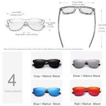 Mens Sunglasses Polarized Walnut Wood Mirror Lens Sun Glasses Women Brand Design Colorful Shades Handmade