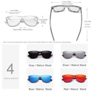 Image 2 - KINGSEVEN 2020 رجل النظارات الشمسية الاستقطاب الجوز الخشب عدسات عاكسة نظارات شمسية النساء العلامة التجارية تصميم ظلال ملونة اليدوية