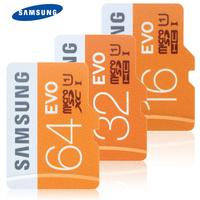 オリジナルサムスンuhs-iクラス10 32ギガバイト64ギガバイト128ギガバイト95メガバイト/秒高スピードのmicrosd tfフラッシュメモリカード用携帯電話タブレットカメラ