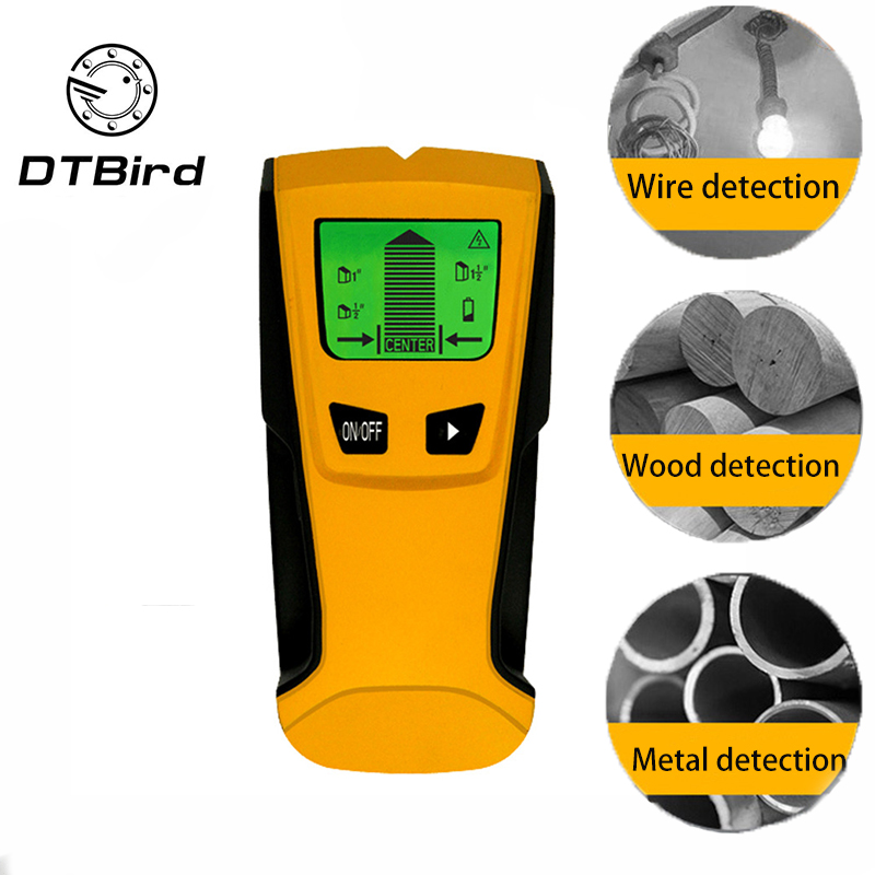 3 In1 Pinpointer detectores de Metal de centro de búsqueda de AC en directo de Detector de pared escáner de oro de caja eléctrica