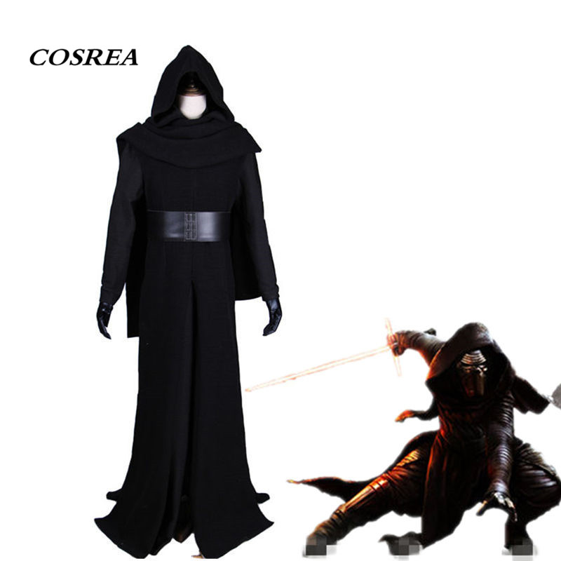 COSREA Star Wars The Force Awakens Kylo Ren Cosplay Costume Villain Deluxe Full Set Outfit Costume Halloween Party For Adult Man