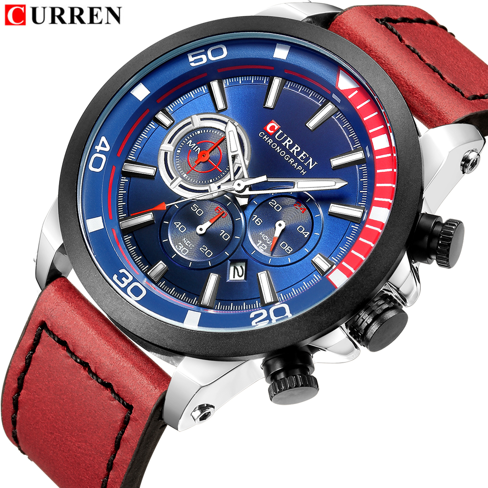 New Curren 8310 Mens Watches Top Brand Luxury Men Military Sport Wristwatch Leather Quartz Watch Erkek Saat Relogio Masculino