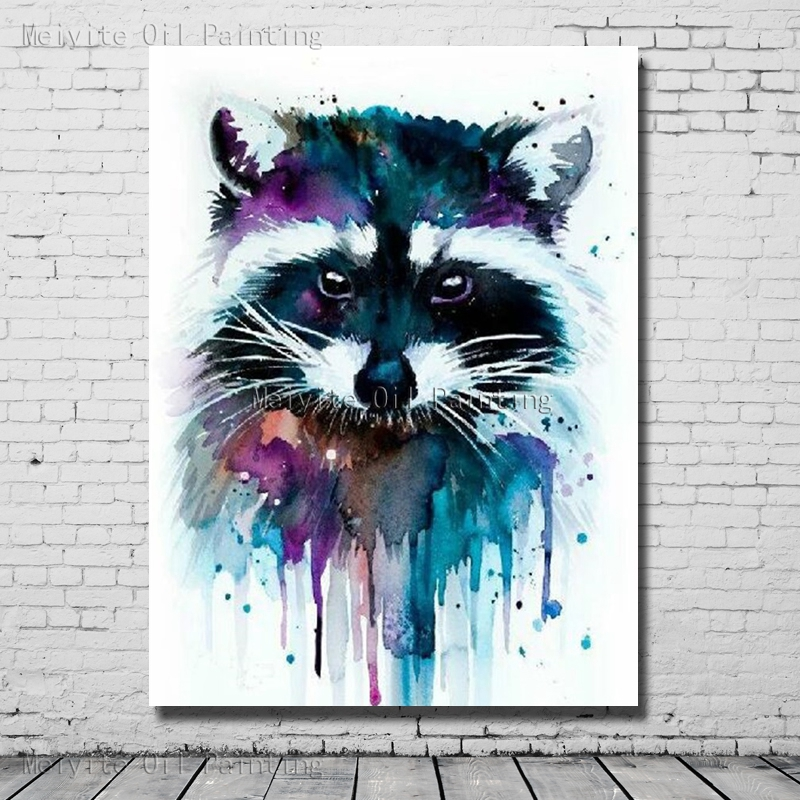 1 Peices Handpainted Oil Painting Abstract Cat Wall Art ...