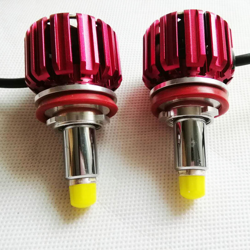 2 pcs one pair 70W 7000LM copper sink CREEe LED copper heat sink turbo fan head light headlighting car lights 360 LED new model
