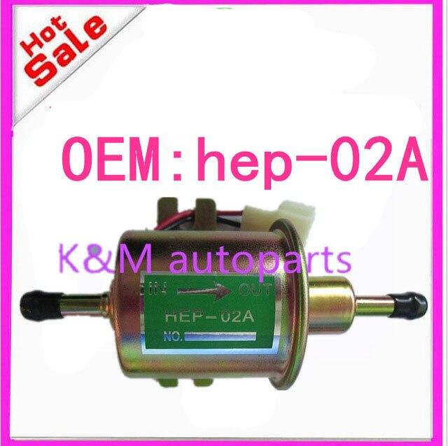 12 V bomba de combustible eléctrica de baja presión perno de fijación alambre Diesel gasolina HEP-02A HEP02A para carburador, motocicleta, ATV