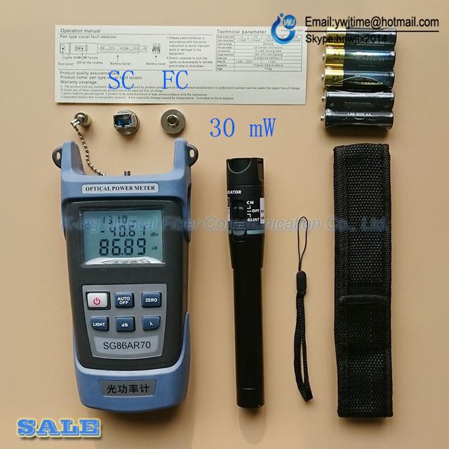 2 Em 1 Kit de Ferramentas De Fibra Óptica FTTH Medidor de Potência Óptica de SG86AR70-50 a + 20dBm e 30 mW Localizador Visual da Falha da Fibra óptica caneta de teste