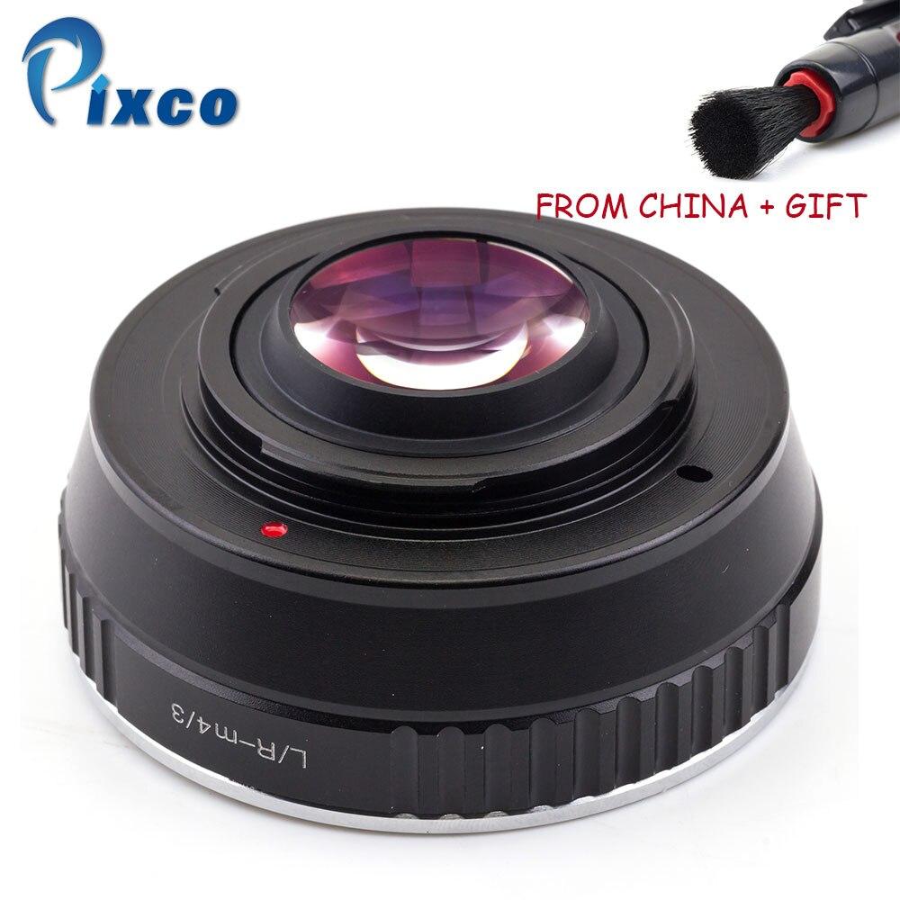 ADPLO L/R-M4/3 Booster de vitesse réducteur Focal, costume pour lentille Leica R pour convenir pour Micro quatre tiers 4/3 caméra + déshydratant de Gel de silice