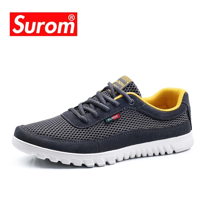 81b9e635b45a SUROM High Quality příležitostné boty pánské krajka až prodyšné ...