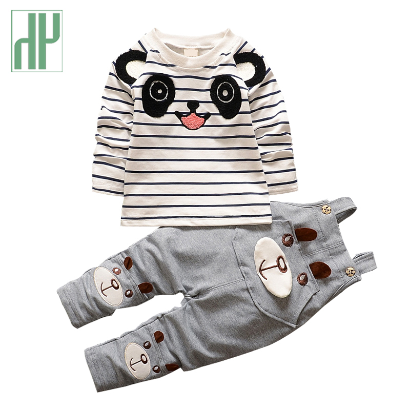 Baby boys clothes Brand Overalls For korean kids girls clothes cartoon panda toddler boys clothing children