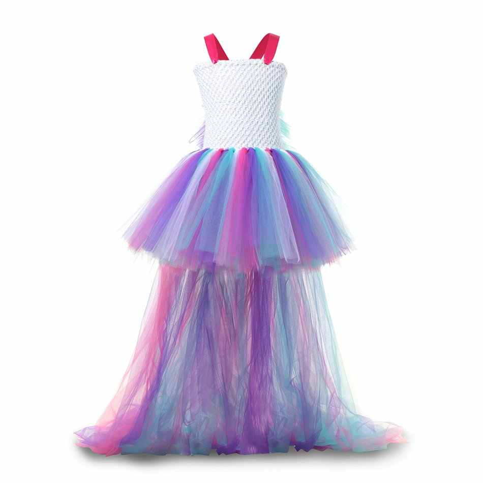 dd9309bd504a ... PaMaBa Girls Princess Unicorn Tutu Dress Halloween Birthday Party  Supplies Costume Kids Pastel Rainbow Unicorn Christmas ...