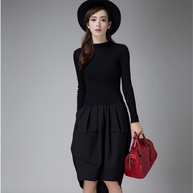 e93ecf804 Aliexpress.com  Compre 2018 Vestidos de Inverno Coreano Designer Casual  High Street Moda Feminina Manga Comprida Sexy Camisola De malha de Lã  Vestido Y1102 ...