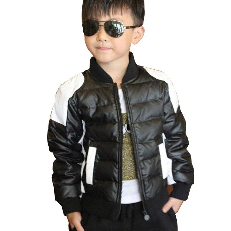 Boys Black Leather Jacket - Jacket