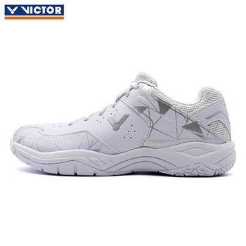Nowe oryginalne Victor profesjonalne poduszki buty do badmintona mężczyźni kobiety buty sportowe trampki buty tenisowe A362 tanie i dobre opinie Winter2018 Pasuje prawda na wymiar weź swój normalny rozmiar Syntetyczny Lace-up Hard court Szok-chłonnym RUBBER