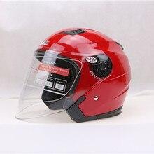 Najnowszy moto hełm jiekai 515 elektryczny motocykl kask pół twarzy rocznika motorbiker kaski capacete dla valentino rossi casco