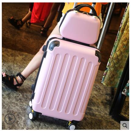 Brand 20 inch 24 inch rolling luggage Case Spinner Case Trolley Suitcase Women Travel Luggage Suitcase Boarding wheeled Case-in Travel Bags from Luggage & Bags    1