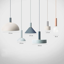 Nordic Creative Wrought Iron Aluminum Brushed Pendant Light Cord Hanging Lamp with Edison Bulb for Workshop Art Deco Abajur diy american country creative iron pendant light led lamp iron metal hanging lamp nordic designer light art deco lighting abajur