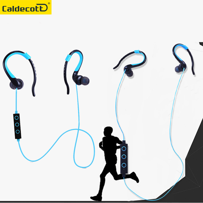 Wireless Sports Earphone With Mic Bluetooth 4.1 Stereo Headset Headphones ear hook Bluetooth Earphone for mobilephone newest mini hbq i7 stereo bluetooth headphones stealth sports headset ear hook earpiece with mic for iphone 7 7p samsung xiaom
