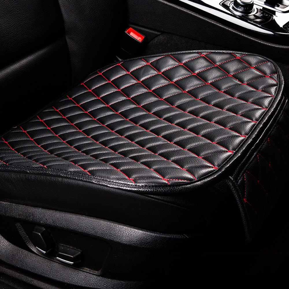 Almofada de assento de carro interior do falso couro macio conjunto almofada de assento de carro almofada de cadeira para carro