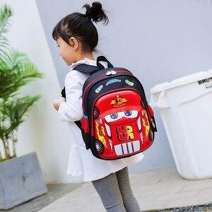 Image 2 - ディズニー車子供のバッグ、学校ミニバックパック少年少女漫画冷凍幼稚園ベビーバッグショルダープライマリ学生バッグ