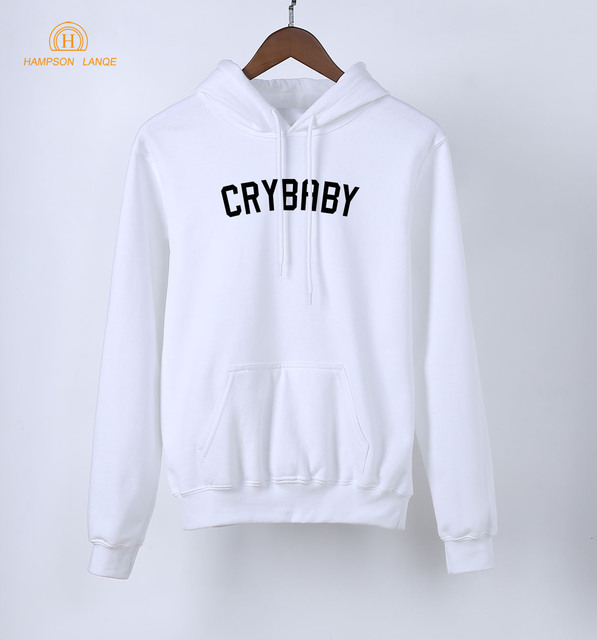 HAMPSON LANQE  Crybaby Cry Baby Kawaii Pink Sweatshirt Female 2018 New Style Spring Autumn Women Hoodie Fleece Casual Streetwear