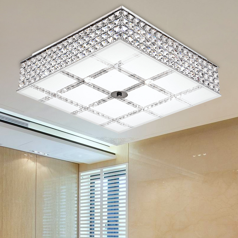 Simple Modern Crystal Led Ceiling Lights Lamp Living Room Dining Lighting