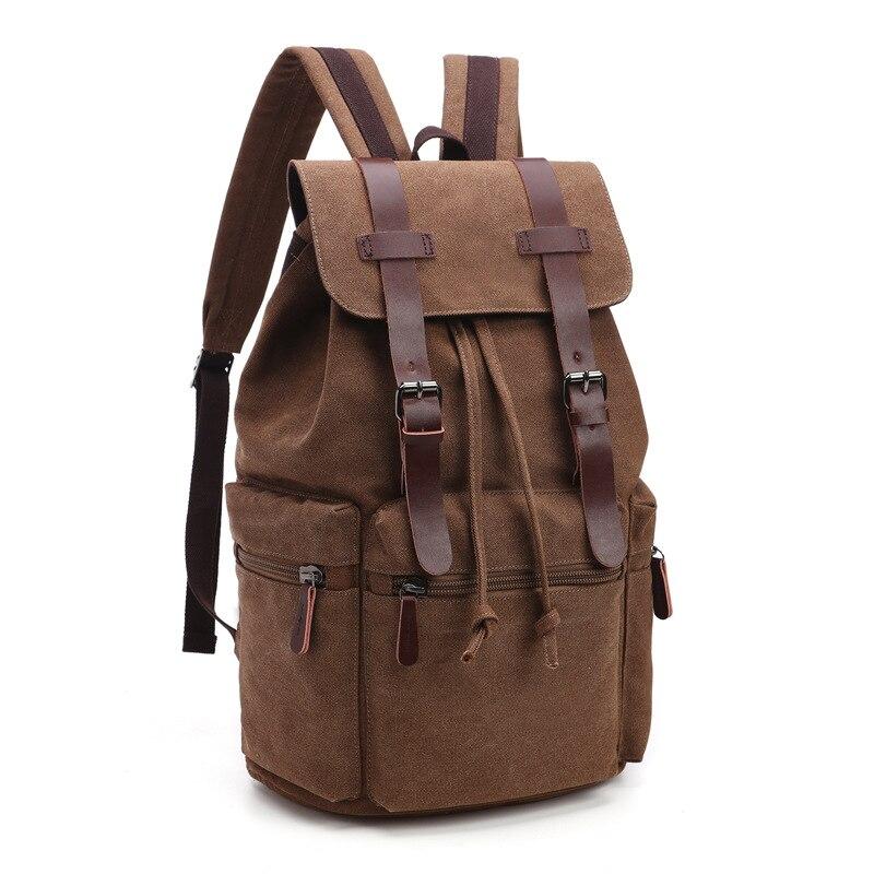 цена на New Arrive Original Z.L.D Canvas Schoolbag Leather Men Travel Bags Men Duffel Bags Weekend Bag Overnight Laptop Backpacks B11