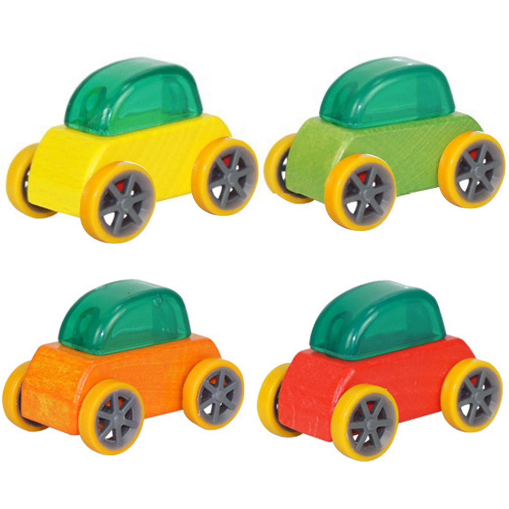 candy color mini wooden car toys assembly model car toy educational detachable toy car for kids