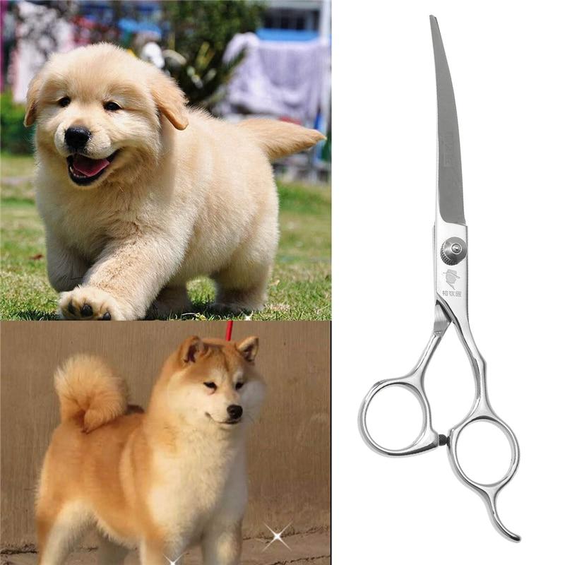 7 zoll Edelstahl Hund Haustier Katze Welpen Grooming Upcurved Schere Haar Effilierschere Schere Für Haustier Hunde Liefert