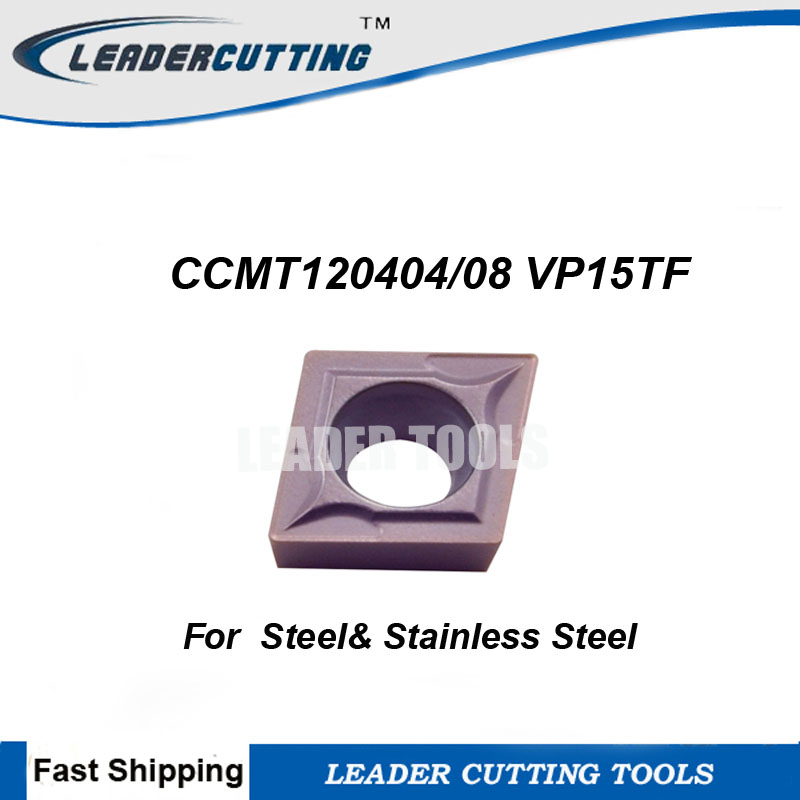 CCMT120404 CCMT120408 VP15TF 10pcs Original Carbide Turning Inserts Cutting Blades for SCLCR SCKCR CCMT1204 Turning Cutting