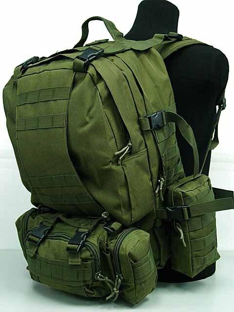 Prix pour Grand sac à dos tactique de plein air sac à dos militaire randonnée Camping alpinisme sac à dos de combiné avec 3 MOLLE sacs