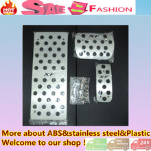 Top Quality for XF car Styling cover Aluminium alloy foot Gas/petrol/oil Interior Brake Rest lamp frame trim Pedal AT
