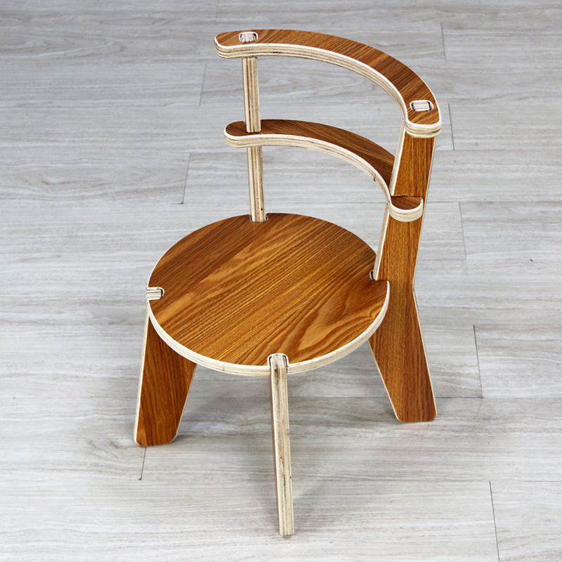 Creative Lovely Children's Furniture Solid Wooden Chair Pillow Stool Children's Stool Children's Chair Footstool