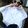 blouse for girl fall 2016 batwing sleeve shirts blouse children white black school clothing for girls long sleeve tops autumn