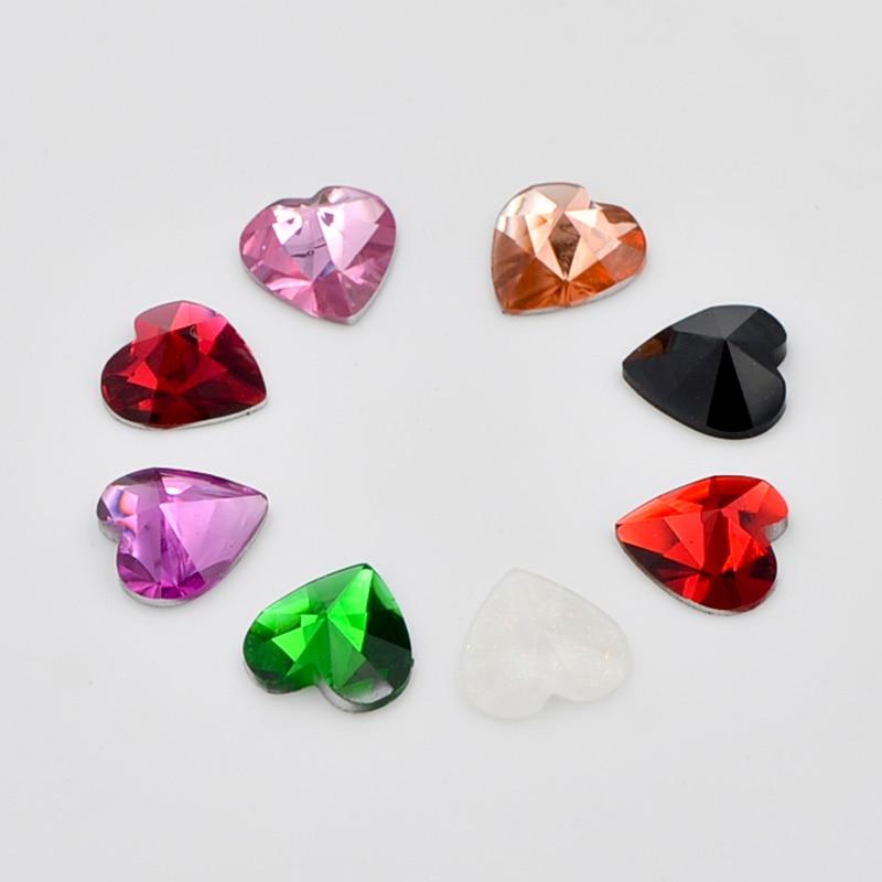 400 шт. Mix 10 мм Сердце Кристалл Flatback горный хрусталь ребенка записки/свадебные Пуговицы F173 * 10