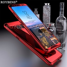 For Samsung Galaxy S8 Case Roybens Luxury Ultra Thin Bling Mirror 360 Full Protection Cover For Galaxy S8 Plus Case 2 in 1 Armor