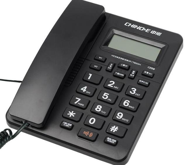 Проводные Телефоны С громкой Двойной Интерфейс Аон Стационарный Телефон Для Домашнего Офиса Бизнес-Черный Белый