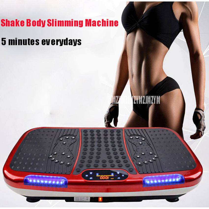Vibration Fitness Massager Indoor Electric Music Lazy Body Vibration Exercise Machine Losing Weight Shake Slim Fitness Equipment exercise fitness slim vibration machine trainer plate platform shake remote control vibration fitness massager gess