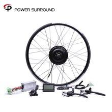 Bicicleta Eletrica 48v500w Bafang Frente/traseira Bicicleta Elétrica Kit de Conversão de Motores Sem Escova do Cubo 20  28Motor 26 Roda
