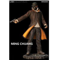 Watch Dogs Aiden Pearce PVC Action Figure Collectible Model Toy with retail box 24CM Q104
