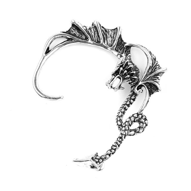 US $37.5 |Vintage Punk Dragon Shaped Earrings Domineering Personality  Dragon Earrings Dragon Stud Earrings for Women 20Pcs-in Stud Earrings from  ...
