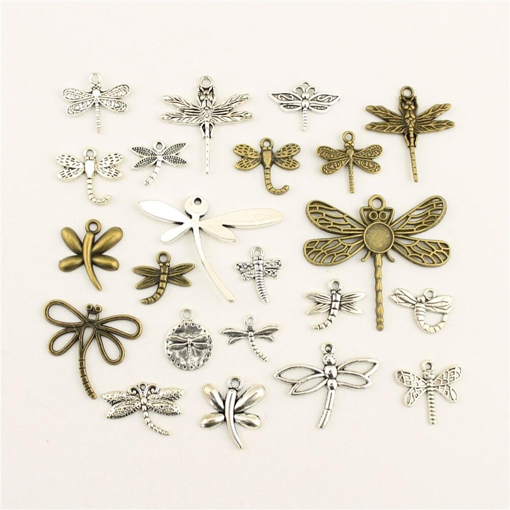 10 pçs moda jóias fazendo animal dragonfly jóias achados componentes pingente charme