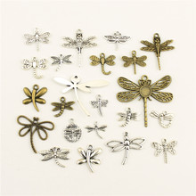 Fashion Jewelry Making Animal Dragonfly Jewelry Findings Components Mix Pendant(China)