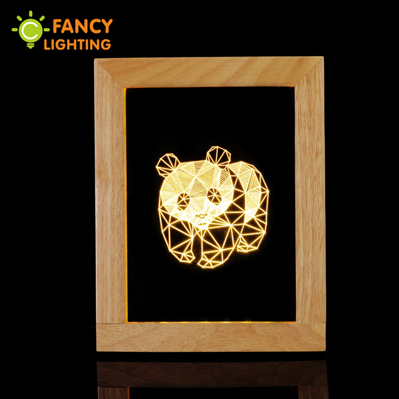 3D cartoon table lamps panda desk lamp novelty night light for children wooden bedside lamp for home bedroom decor luminaria novelty night light baymax big hero 3w luminaria white green red color lava lamp for children bedroom decorate luminaria de mesa
