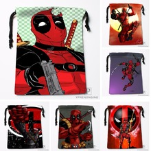 Custom Cool Logo Deadpool Drawstring Bags Travel Storage Mini Pouch Swim Hiking Toy Bag Size 18x22cm#0412-04-228
