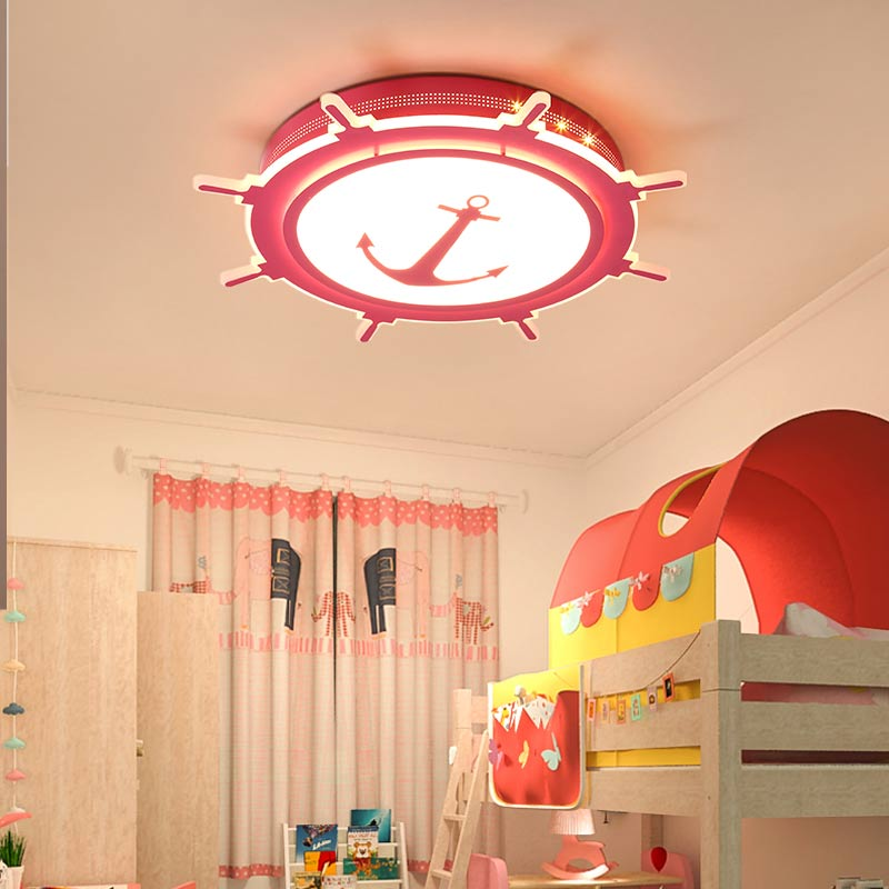 Acrylic Lamp Modern Led Ceiling Light With Remote Control Bedroom Living Room Kids Room Decor Home Lighting Red Metal 220V black and white round lamp modern led light remote control dimmer ceiling lighting home fixtures