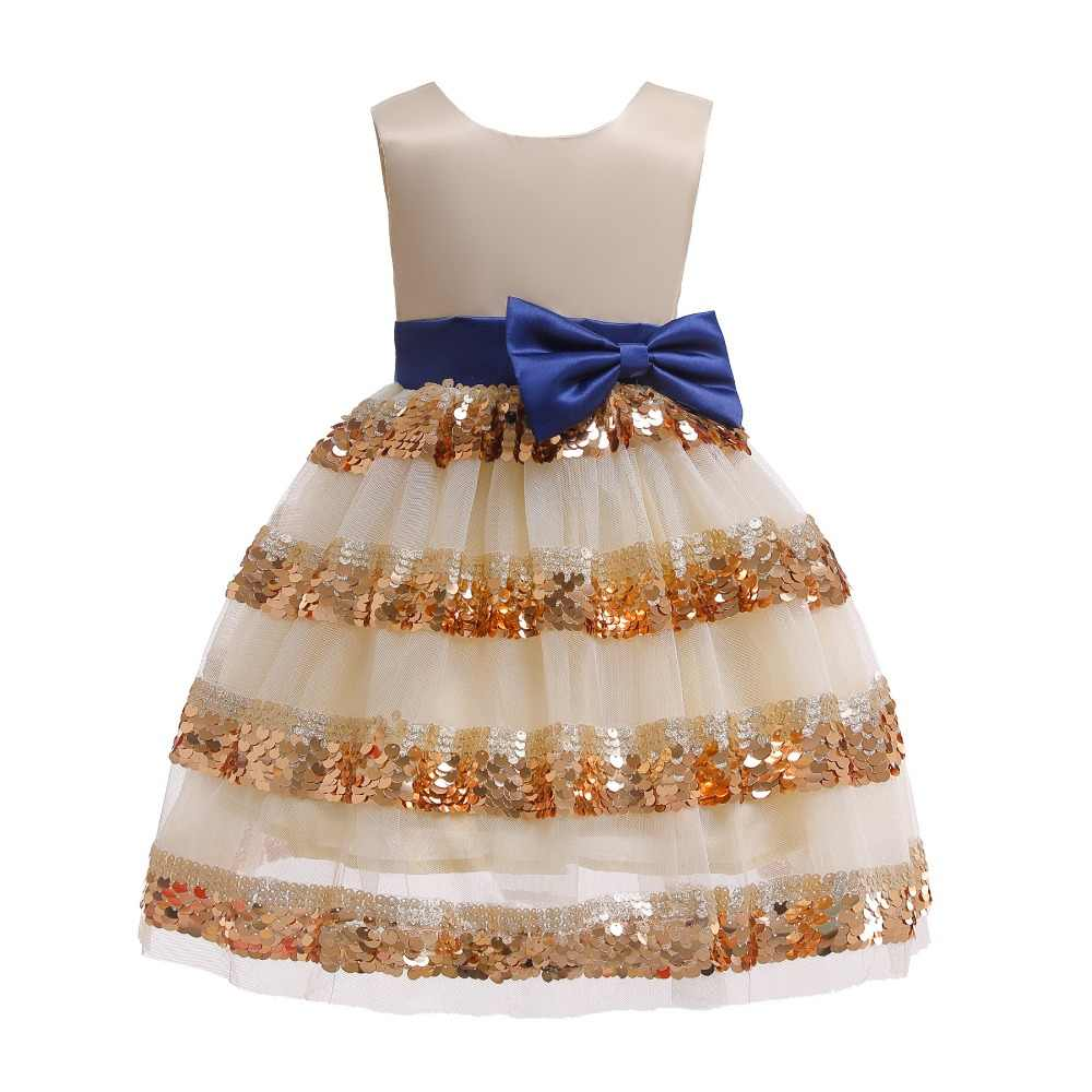 Детское рождественское платье принцессы; детская одежда для девочек; Новинка 2019 года; платье с цветочным рисунком для маленьких девочек; торжественное платье для свадебной вечеринки